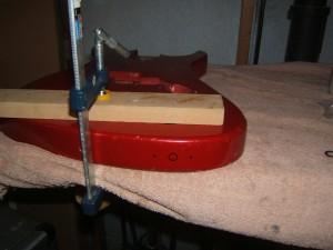 Drilling a side mount jack hole